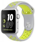 Спортивный силиконовый браслет для Apple Watch 42mm Hoco Sporting White and Yellow