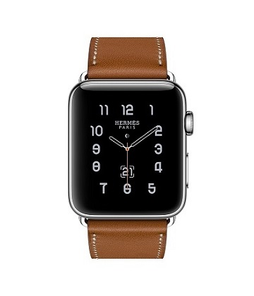 Apple Watch Hermes 38 mm silver/Simple Tour Barenia leather Fauve colors