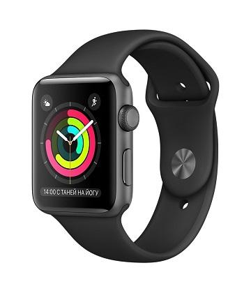 Apple Watch 42 mm space gray-sport black
