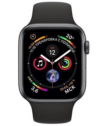 Apple Watch Series 4 44mm Space Gray / Sport Black